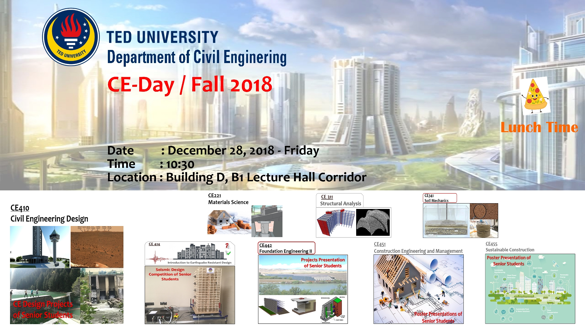Civil Engineering Day 2018-19 Fall   TED University